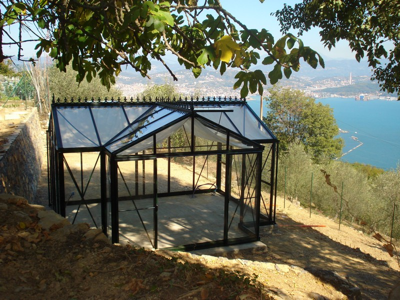 Helios Orangery at side of hill
