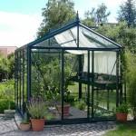 Greenhouse with normal door step