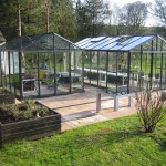 Two Helios Greenhouses at a satisfied customers house