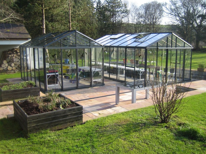 Two-Helios-Greenhouses-at-a-satisfied-customers-house
