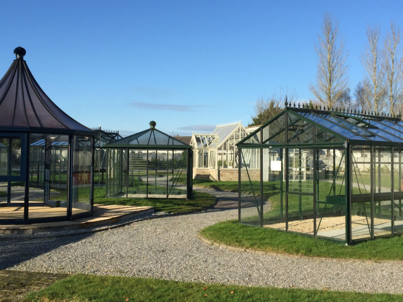 Greenhouses on display